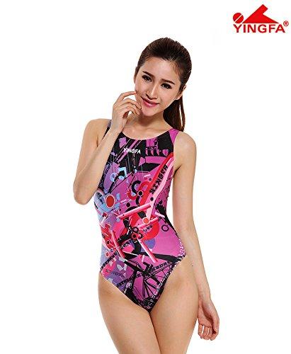 Yingfa YFW998-2 New Raceskin Performance Swimsuit - Pink - M