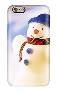 BirKpcz7083qPCBs Anti-scratch Case Cover DPatrick Protective Happy Snowman Christmas Case For Iphone 6