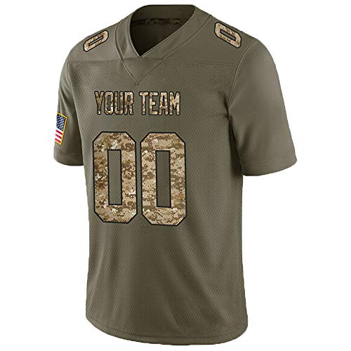 Pullonsy Camo Salute to Service Customized Football Jerseys for Women Embroidered Team Name and Your Numbers,Mesh Desert Camo-Black,Size L (New Orleans Saints Salute To Service Jersey)