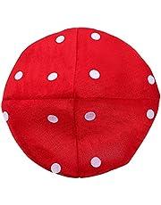 NUOBESTY Kids Mushroom Hat Costume Accessory Red Plush Mushroom Hat Cartoon Party Costume Hat for Festival Decor