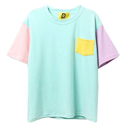 Women Harajuku Fashion Patchwork Kawaii Summer Top for sale  Delivered anywhere in USA