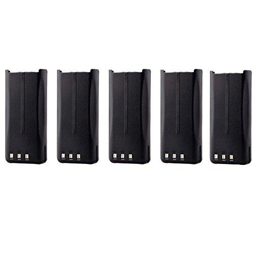 5 Pack New 7.4V 2000mAh Li-ion Portable Two-Way Radio Interphone Battery KENWOOD KNB-45, KNB-45L, KNB-45Li for KENWOOD Portable TK-3200L TK-3200P TK-3200LP TK-3202 TK-3202E TK-3202E3 TK-3 by TOPCHANCES