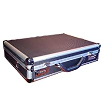 "Black Aluminum Laptop Breif Case For 15-17"" Notebook computer"