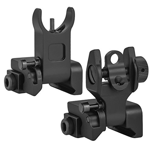 Marmot Flip Up Iron Sights A2 Front Sight & Rear Sight for Gun Rifle Handgun -