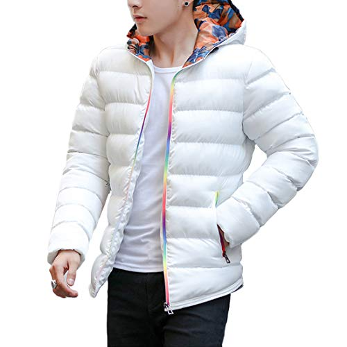 and Fashion Coat Paragraph Men's New Short Stitching Jacket Autumn Winter Inlefen Slim White The fit Outerwear 6qpzwxE