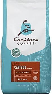Caribou Coffee, Caribou Blend, Medium Roast Ground Coffee, 20 Ounce Bag, Rainforest Alliance Certified