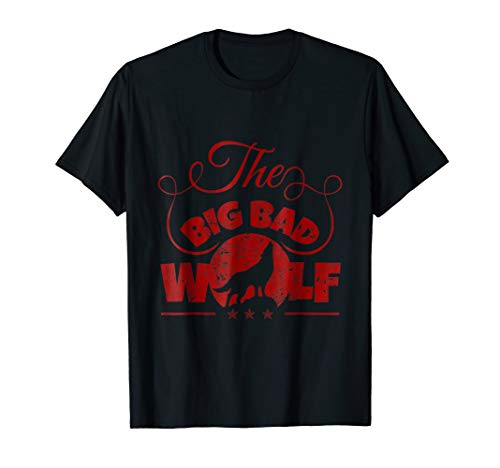 Mens The Big Bad Wolf Apparel - The Big Bad Wolf Shirt Large Black