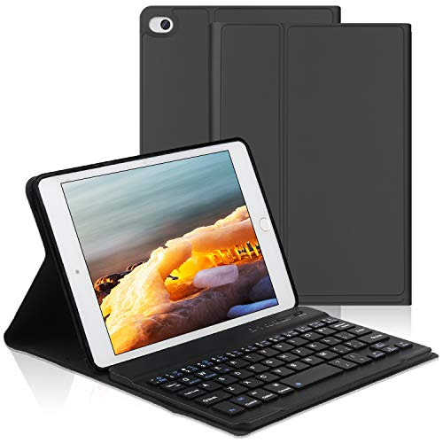 OYOSUOGG iPad Mini Keyboard Case 7.9 inch for iPad Mini 5 2019 /iPad Mini 4/3 / 2/1, Auto Sleep/Wake Function Stand Leather Folio Protective Cover with Removable Wireless Bluetooth Keyboard-Black (Best Ipad Mini 2 Keyboard Case 2019)