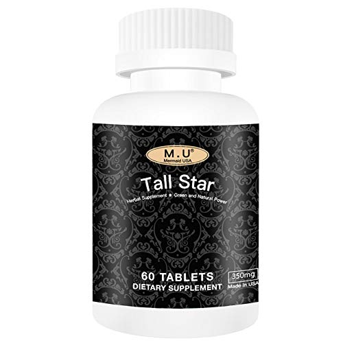 Tall Star - Top Star-Grow Taller Magic Height Growth Support for Women and Men Teenagers Kids - Premium Calcium Contained- Non GMO M.U Mermaid USA Natural and Pure Herb