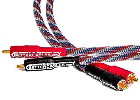 Better Cables シルバーサーペント RCAオーディオインターコネクトケーブル - ステレオペア (2ケーブル) ハイエンド ハイパフォーマンス プレミアムHi-Fiオーディオ 10 Feet SS-USA-3-RR-V2