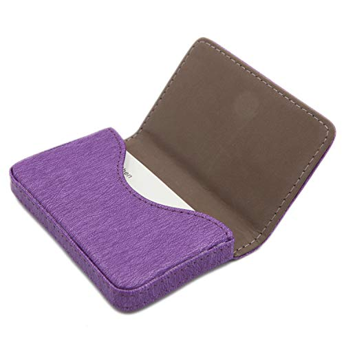 RFID Blocking Wallet - Minimalist Leather Business Credit Card Holder with Magnetic - Purple2