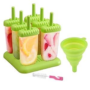 delmkin 6 St. ghiaccioli forme ghiaccio forme 6 pezzi gelato forme per bambini verde 1 spesavip
