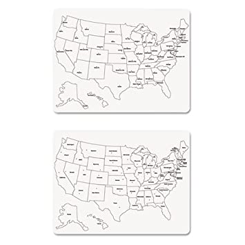 Amazoncom Creativity Street TwoSided US Map Whiteboard - Us map whiteboard