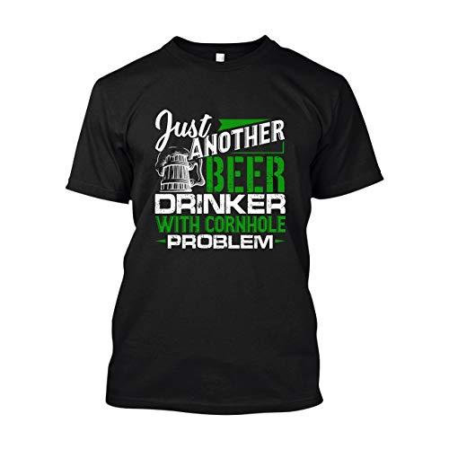 Eleven Garlic Beer Drinker with Cornhole Problem Unisex Short Sleeve Shirt, Tee Shirts Black,2XL