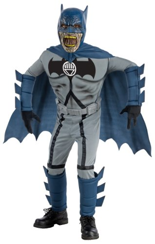 Blackest Night Deluxe Zombie Batman Costume and Mask - Large (Dark Night Halloween Costumes)