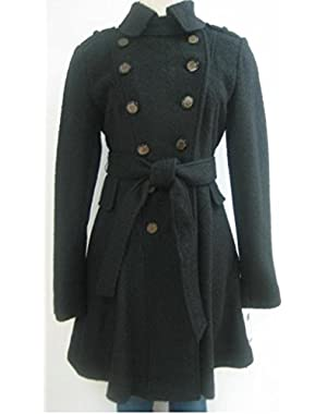 Guess Belted Wool Coat, Jacket, Black, Large, Mh449