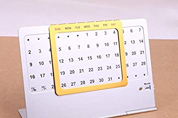 Amazon Com 2019 Calendar Aluminum Calendar Stand Diy Desk Calendar