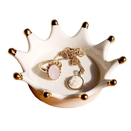 Eastyle White Crown Jewels Ring Holder Jewelry (Holder Ceramic Mold)
