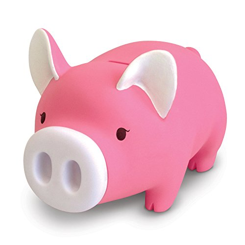 Cute Pig Piggy Bank, Pink Pig Bank Toy Coin Bank Decorative Saving Bank Money Bank Adorable Pig Figurine for Boy Girl Baby Kid Child Adult Pig Lover by DomeStar ()
