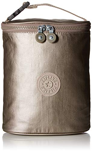 Kipling Insulated Baby Bottle Holder, Clip on Strap, Metallic Pewter by Kipling