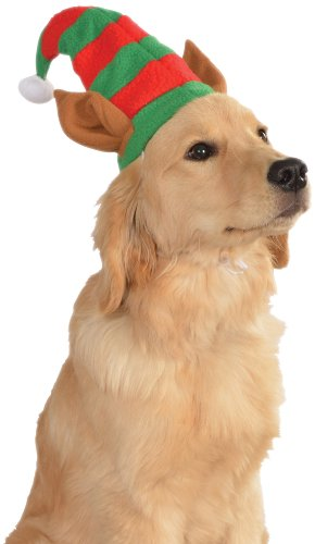 Rubie's Christmas Pet Costume, Medium to Large, Elf Hat with Ears (Pets Costumes)