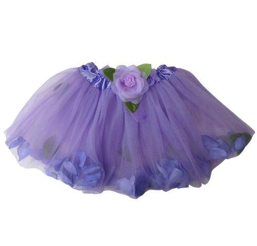 Girls Lavender Princess Costumes (Flower Petal Girls Dance Dress-Up Princess Fairy Costume Dance Tutu (Lavender))