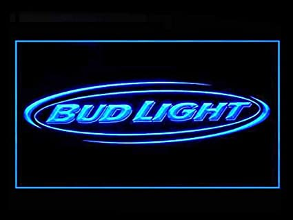 Lamazo Bud Light Beer Bar Budweiser Led Light Sign Blue