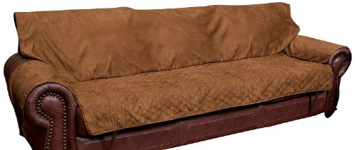 Solvit Sofa Full Coverage Pet Bed Protector, Cocoa (Sofa Covers For Leather Sofa)
