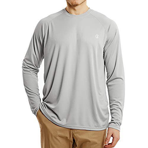 Bewinds Men's UPF 50+ UV Sun Protection Long Sleeve T-Shirt Performance Dri-fit UV Blocking Shirts for Fishing, Hiking, Outdoor Running