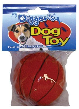 Boss Pet 52532 Assorted Latex Basketball Dog Toy with Squeak