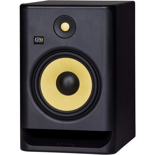 """KRK ROKIT 8 G4 8"""" 2-Way Active Studio Monitor (Single, Black) with Free Isolation Pad and 1 Year EverythingMusic Extended Warranty"""