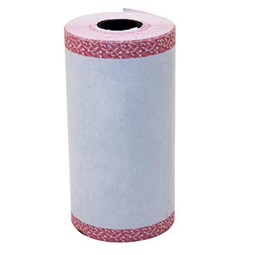 (WskLinft Self-Adhesive Heat-Sensitive Thermal Sticker Printing Paper for Photo Printer - Pink Fringe)