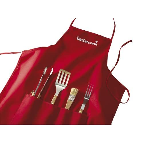41qTQ2G1SaL. SS500  - SAEY HOME & GARDEN N.V. Barbecook Apron with 4-Barbecue Tools