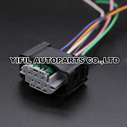 Davitu 5pcs/lot 6 Pin Tyco Accelerator Pedal Plug Throttle Valve Sensor Connector With Wire Pigtail For BENZ BMW 1-967616-1 7M0973119