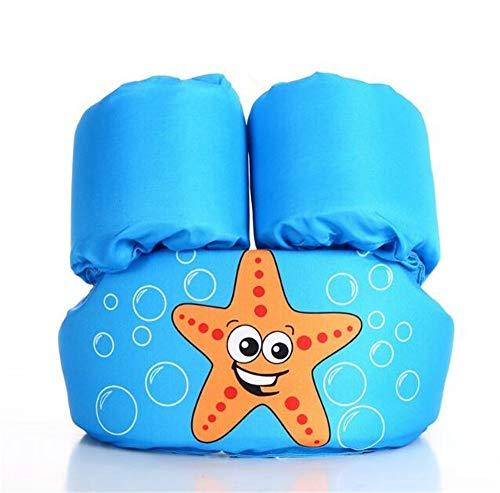 (XIANGMAI Cartoon 1-6 Age Children's Swimming Vest Buoyancy Arm Foam Lifebuoy Swim Circle Boys Girls Swimming Suit Arm Swim Ring Pool Accessories (Blue))