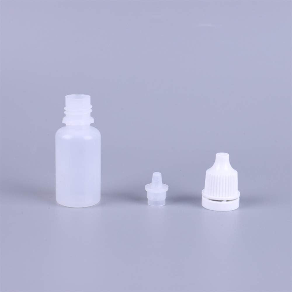 50 botellas cuentagotas de 20 ml con cierre
