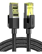 UGREEN Cat7 Ethernet Kabel Nylon Patchkabel 5M met RJ45 Connector 10Gbps 600MHz Cat7 FTP LAN Kabel Compatibel met Cat6 Cat5e Cat5 voor Router, PS5, PS4, Modem, Switch, TV enz.