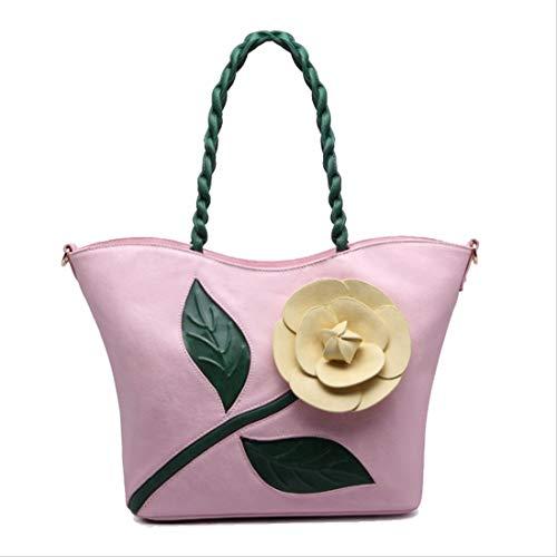 Bourse Pu 3d Élégant Bandoulière Main Bohême Fleur Grand Yan Rose De Sac Show Femme Style À Hq6S1w5