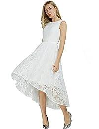 FAIRY COUPLE Scoop Neck Hi-Low Lace Bridesmaids Dress Party Dress D0470