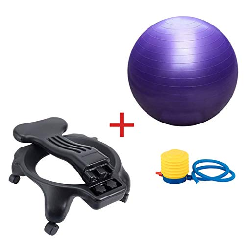 Sports & Fitness Yoga Ball Chair Child Sitting Posture Correction Ball Chair Office Chair Fitness Shaping Yoga Ball Chair Pregnant Yoga Ball Chair (Load Bearing: 300kg) Exercise Ball Chairs by PHSP (Image #7)