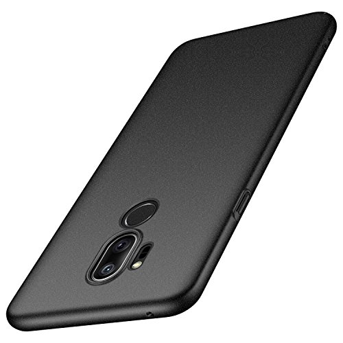 Arkour LG G7 ThinQ Case, LG G7 Case, Minimalist Ultra Thin Slim Fit Cover with Non Slip Matte Surface Hard Cases for LG G7 ThinQ (Gravel Black)