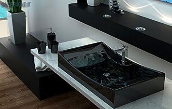 lavabo da appoggio nero per bagno rb6842