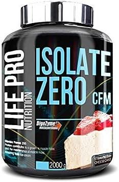Life Pro Isolate Zero 2Kg | Suplemento Deportivo de Aislado de Proteína de Suero 87%, Mejora Rendimiento Físico y Recuperación, Sabor Cheesecake