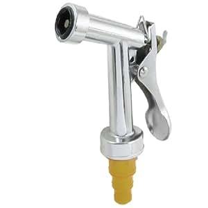 Garden Coupler Trigger Hose Nozzle Yellow Silver Tone