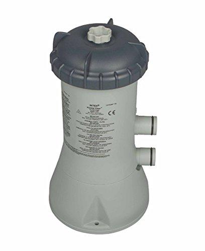 Intex 28604GS Kartuschenfilteranlage Typ ECO 2270GS, TÜV/GS, grau, 2.271 l/h /55 W/230/12 V