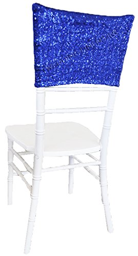 Awe Inspiring Wedding Linens Inc 5 Pcs Chiavari Chair Covers Caps Sequin Spandex Stretch Chair Cover Cap For Wedding Party Banquet Events Royal Blue Pdpeps Interior Chair Design Pdpepsorg
