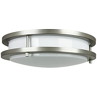 Sunlite DCO12/E/SN 12-Inch Energy Saving Decorative Band Trim Ceiling Fixture Satin Nickel Finish with White Covering (B004WSOJYE) | Amazon price tracker / tracking, Amazon price history charts, Amazon price watches, Amazon price drop alerts