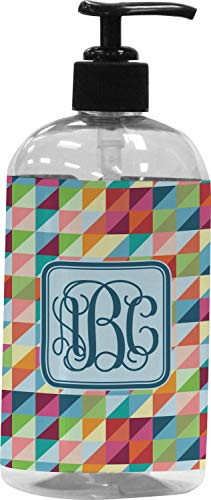 RNK Shops Retro Triangles Plastic Soap/Lotion Dispenser (16 oz - Large) (Personalized)