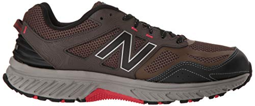 New Balance Men's 510v4 Cushioning Trail Running Shoe Chocolate/Black/Team red 7 D US by New Balance (Image #7)