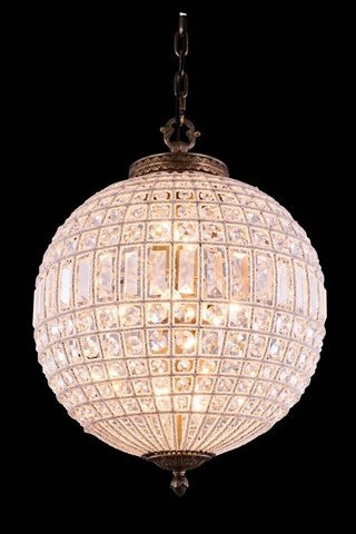 (Elegant Lighting 1205 Olivia Collection 3-Light Pendent Lamp with Royal Cut Crystals, 17.5